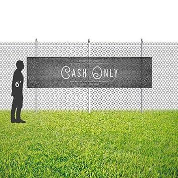 CGSignLab 16x4 Chalk Corner Wind-Resistant Outdoor Mesh Vinyl Banner Cash Only