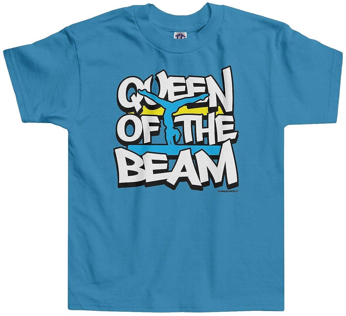 Threadrock Little Girls Queen of the Beam Toddler T-Shirt