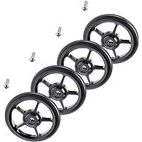 HomeDecTime 4X Alloy Bike Easy Wheels 6 cm vouwfiets Easywheel voor Brompton Black