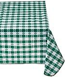 Winco TBCO-70G Checkered Table Cloth, 52-Inch x 70-Inch, Green