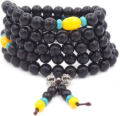8 mm Pulsera Gema Piedra natural oración budista tibetano Beads Mala Collar 108