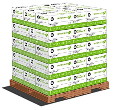 HP Paper, EcoFFICIENT, Optimized for HP EcoSMART, 16LB, 8.5 x 11, Letter, 5000 Sheets / Carton, 48 Carton / Pallet, 240,000 Sheets, Made In The USA