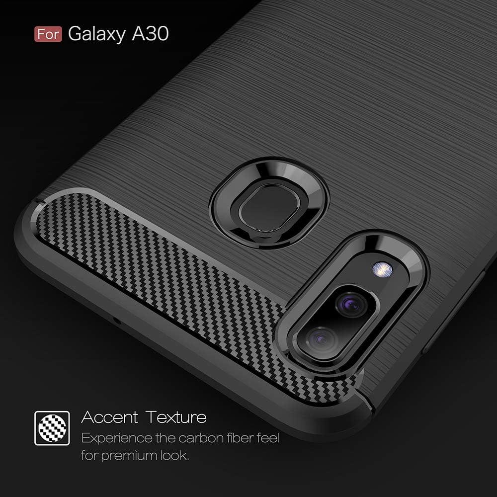 Bluehare Coque pour Samsung Galaxy A20 L/éger Antichoc TPU+PC Cas Anti-Rayures Couverture Arri/ère Rotatif Anneau B/équille Utilis/é comme Un Support De T/él/éphone en Voiture Support Couverture