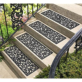Amazon Com Set Of 4 Rubber Stair Tread Traction Control
