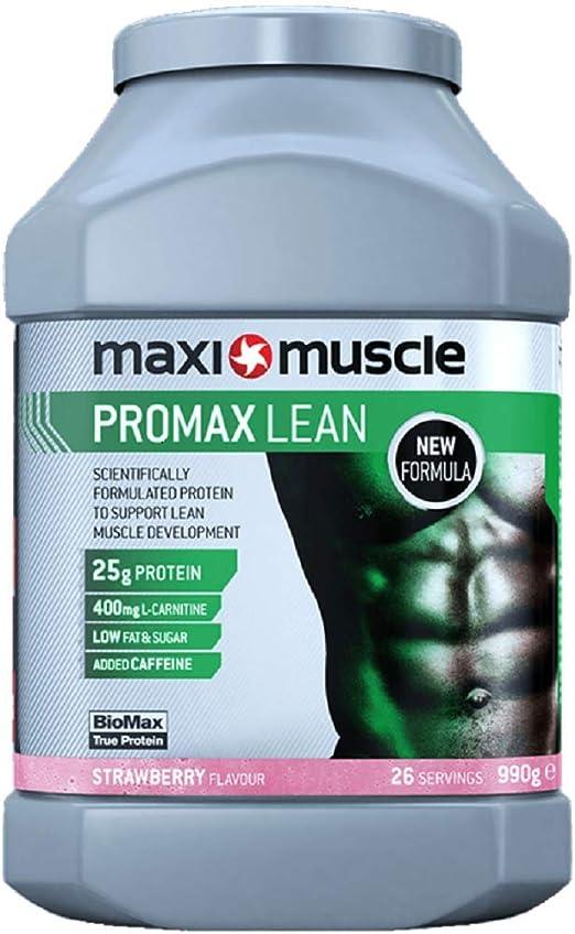 Maximuscle Lean Promax Proteína en polvo, Formulada para Construir Masa Muscular, 990G - 990 g
