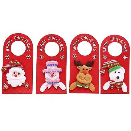 Amazon Com Funpa Christmas Door Knob Hangers 4 Pack Santa Claus