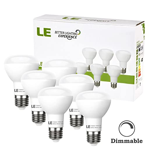 LE 6 Pack BR20 LED Light Bulbs Dimmable 45W Incandescent Bulbs Equivalent 8W LED Recessed Can Lights 450lm Warm White 2700K 110 Beam E26 Base ...  sc 1 st  Amazon.com & LE 6 Pack BR20 LED Light Bulbs Dimmable 45W Incandescent Bulbs ... azcodes.com