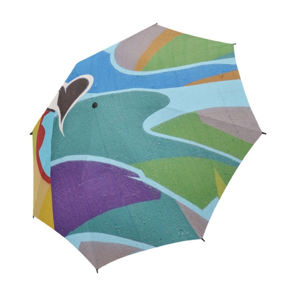 ENEVOTX Graffiti Painting Wall Abstract Artwork Unique Umbrella Semiautomatic Foldable Umbrella Foldable Travel Rainy Sunny Gift