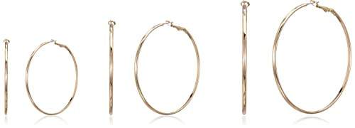 d220b23c2ae23 Image Unavailable. Image not available for. Colour  Forever 21 Hoop Earrings  for Women (00197974011 0019797401 GOLD 1)