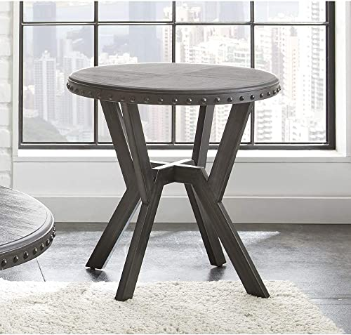 Deal of the week: Greyson Living Avilla Grey Metal Round Industrial-Style End Table