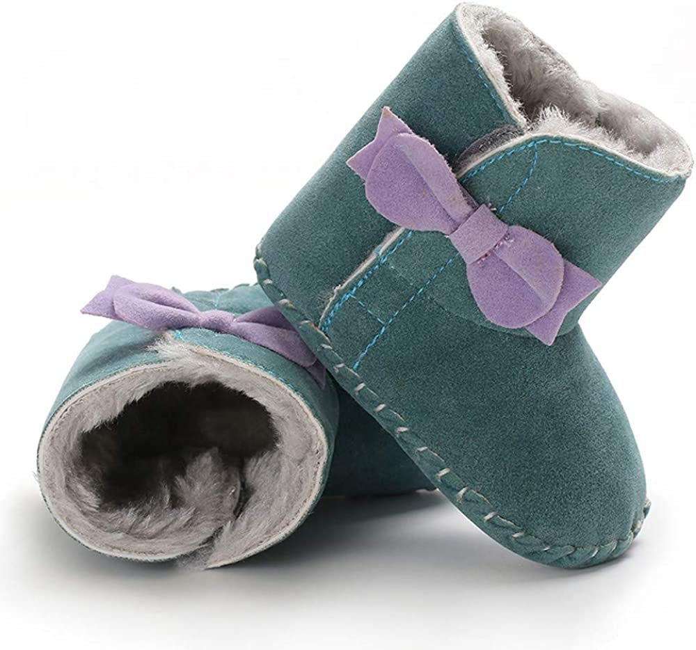 Infant//Toddler Lurryly❤Girls Soft Sole Bow Warm First Walkers Shoes Prewalker Snow Boots