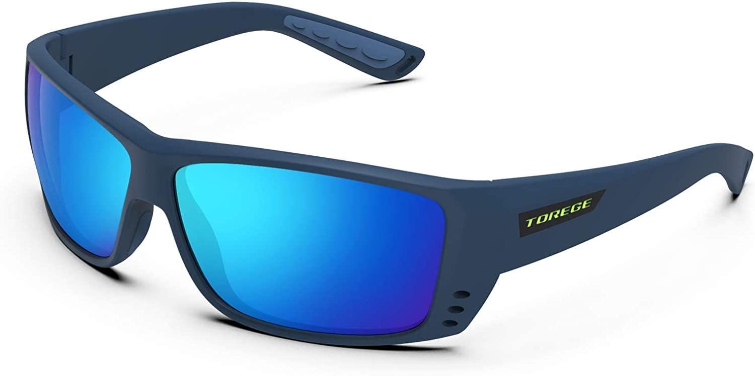 TOREGE Polarized Sports Sunglasses for Men Women Cycling Running Driving Fishing Golf baseball Glasses TR23