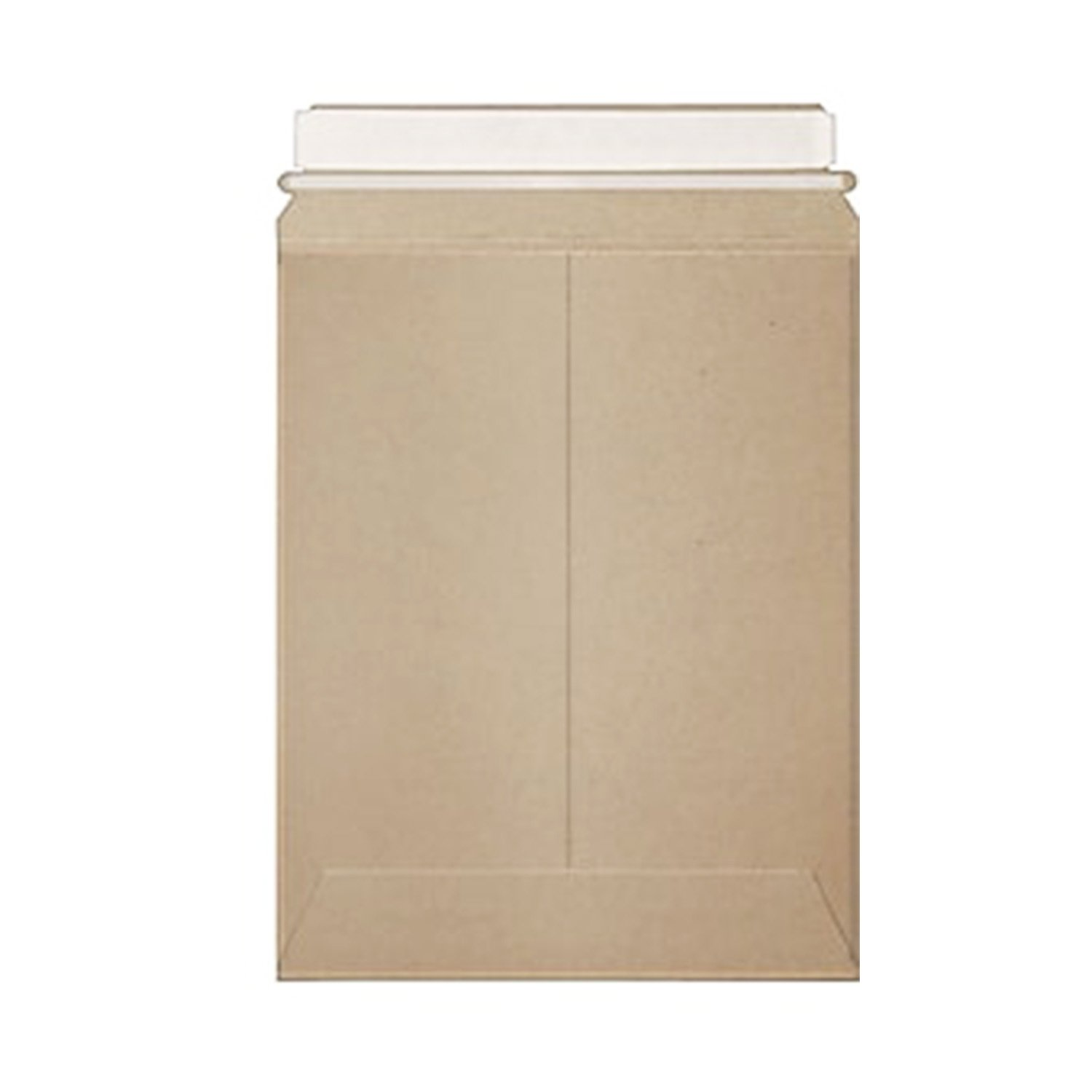 Stayflats Plus Mailers | Rigid Shipping Envelopes | Tamper Evident Security with Peel & Seal Pressure Sensitive Closure | Built-in Corner Protection | Kraft | 100 Per Case | 13'' x 18'' by Stayflats
