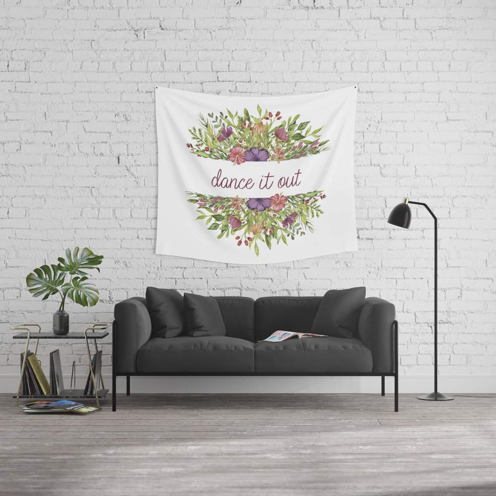 Society6 Wall Tapestry, Size Medium: 68'' x 80'', Dance it Out - Wild Flowers Collection by missguiguitte