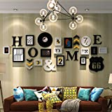 Home@Wall photo frame Wooden Decorative Frame Wall, Photo Frame Wall Sets Of 13 Photo Wall Suspension No Trace Nails Creative Decorative Paintings Set ( Color : B )