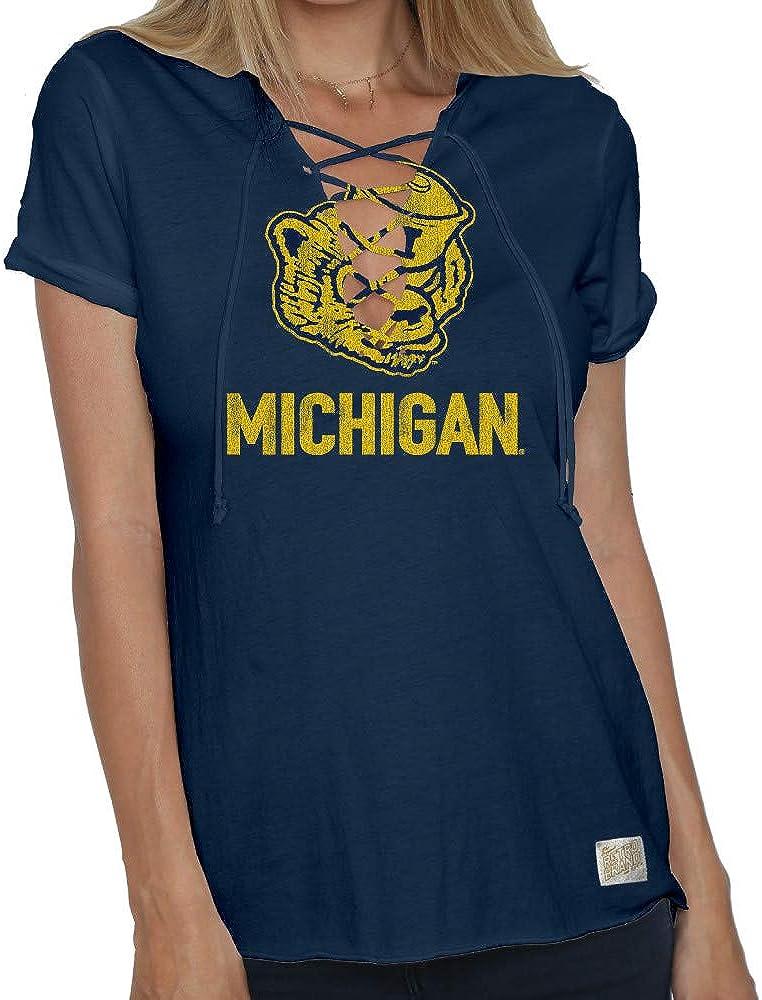 Elite Fan Shop NCAA Womens Lace Up Tshirt