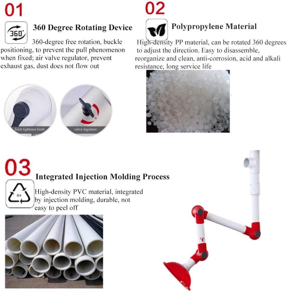 Zhujiao Campana extractora de Humos de Laboratorio, Campana extractora de Humos de Laboratorio montada en la Pared Universal Dirección de Ajuste de 360 Grados para Laboratorio de fábrica: Amazon.es: Hogar