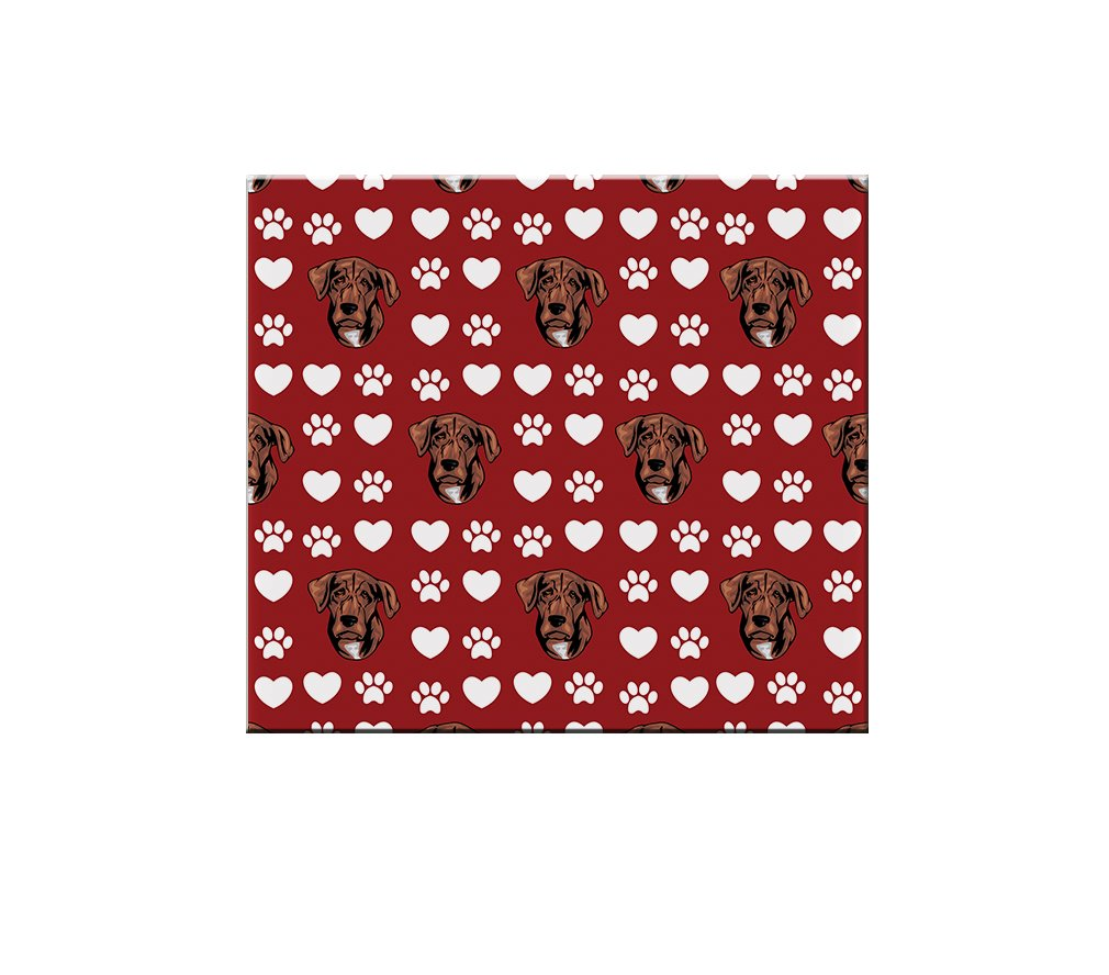 Treeing Tennessee Brindle Dog Red Paw Heart Ceramic Tile Backsplash Accent Mural 70%OFF