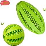 ボール Imikoko 犬 歯のクリーニングボール 犬噛むおもちゃ 犬のおやつフィーダー IQトレーニングボール ペットトレーニング/Chewing/再生/ストレス解消 おもちゃ ゴム製 耐久性 非毒性 (2Pcs M green)