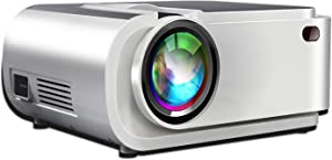 "Mini Projector,5500 Lumen Projector with 250"" Diagonal,Projector for Outdoor Movies with Hi-Fi Speakers.Movie Projector with 60,000 Hrs Lamp Life,Compatible with TV Stick,PS4,HDMI,VGA,TF,AV,USB"
