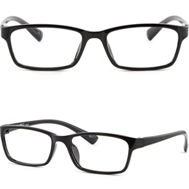 Amazon.com: Light Flexible TR90 Plastic Frame Bend Eyeglasses ...