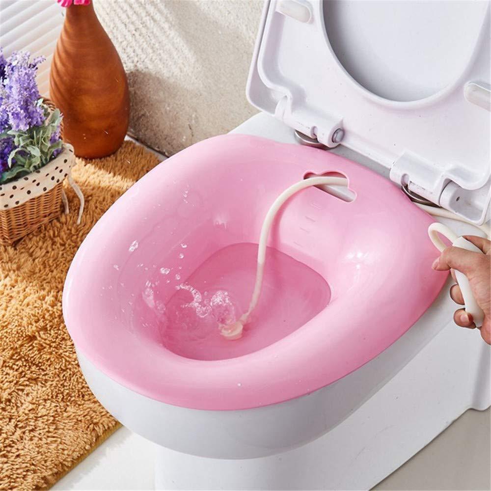 Bain De Bain P/érin/éal Au-Dessus Des Toilettes,Pour Le Soulagement Des H/émorro/ïdes Les Personnes /Âg/ées Id/éal Pour Les Patients Post-/Épisiotomie,Pink Les Femmes Enceintes