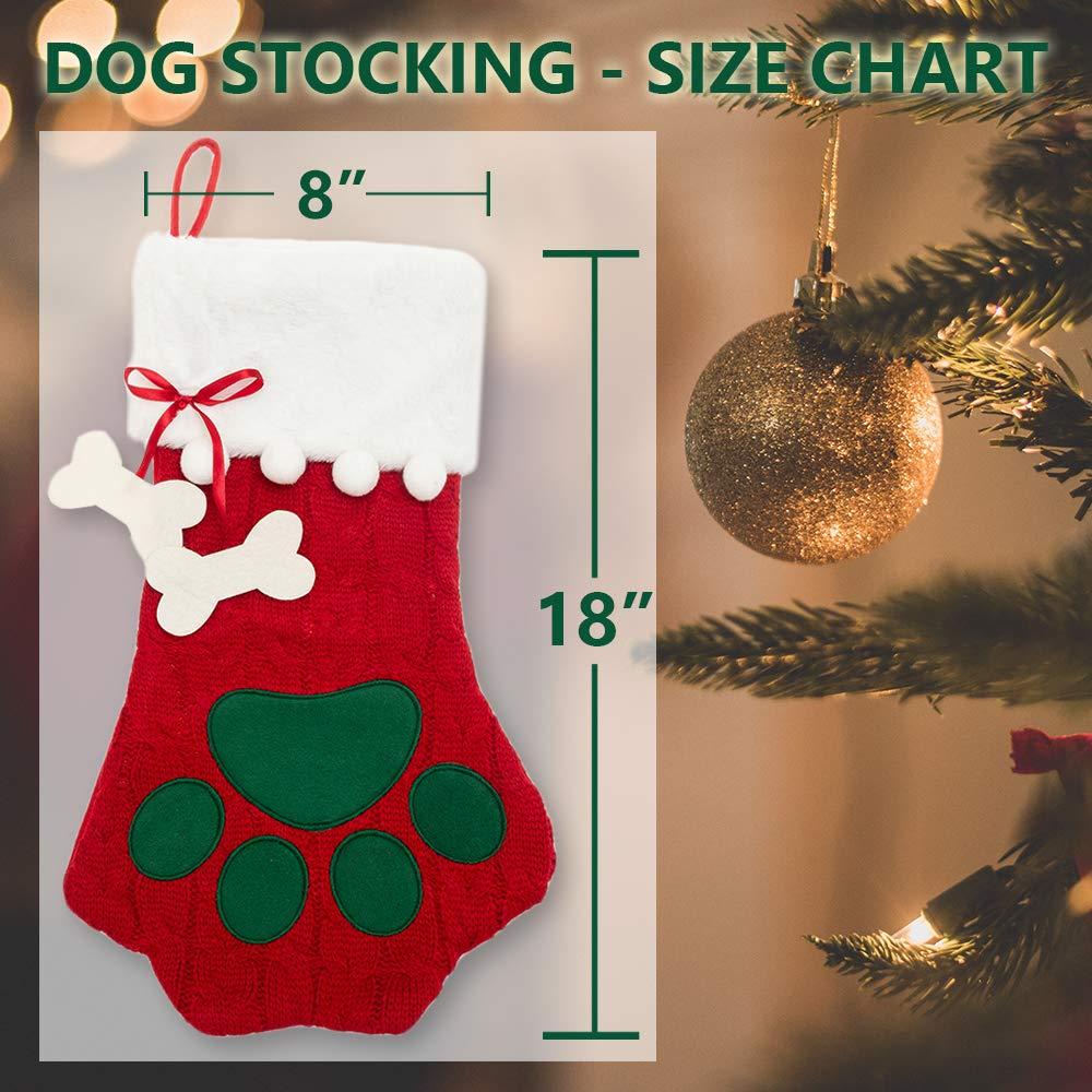 Pet Supplies CHERPET Christmas Dog Stocking Hanger Red ...