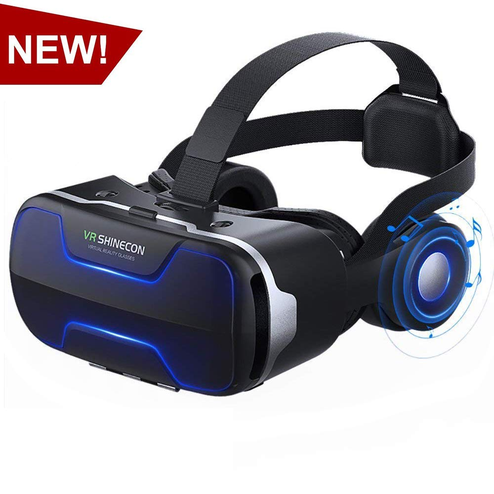VR Headset,Virtual Reality Headset, VR SHINECON 3D VR Glasses for TV, Movies & Video Games - Virtual Reality Glasses VR Goggles for iPhone, Android and Other Phones Within 4.7-6.0 inch by VR SHINECON