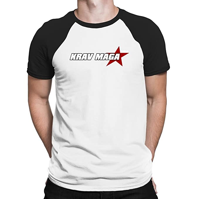 Teeburon Krav Maga USA STAR Camiseta Raglan: Amazon.es: Ropa y accesorios