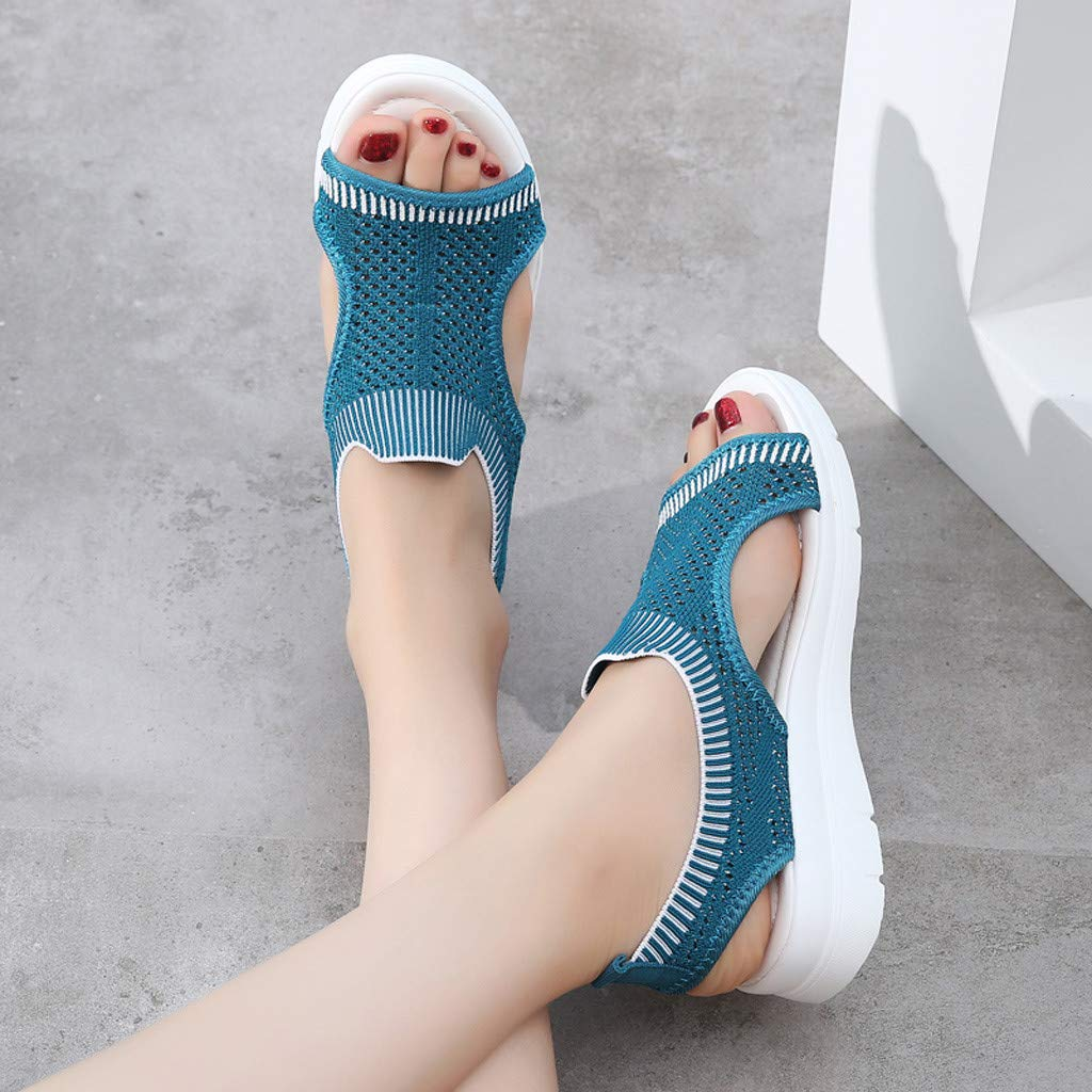 ✔ Hypothesis_X ☎ Men's and Women's Garden Clogs Shoes Sandals Slippers Roman Casual Flock Sandals Dark Blue by ✔ Hypothesis_X ☎ Shoes (Image #4)