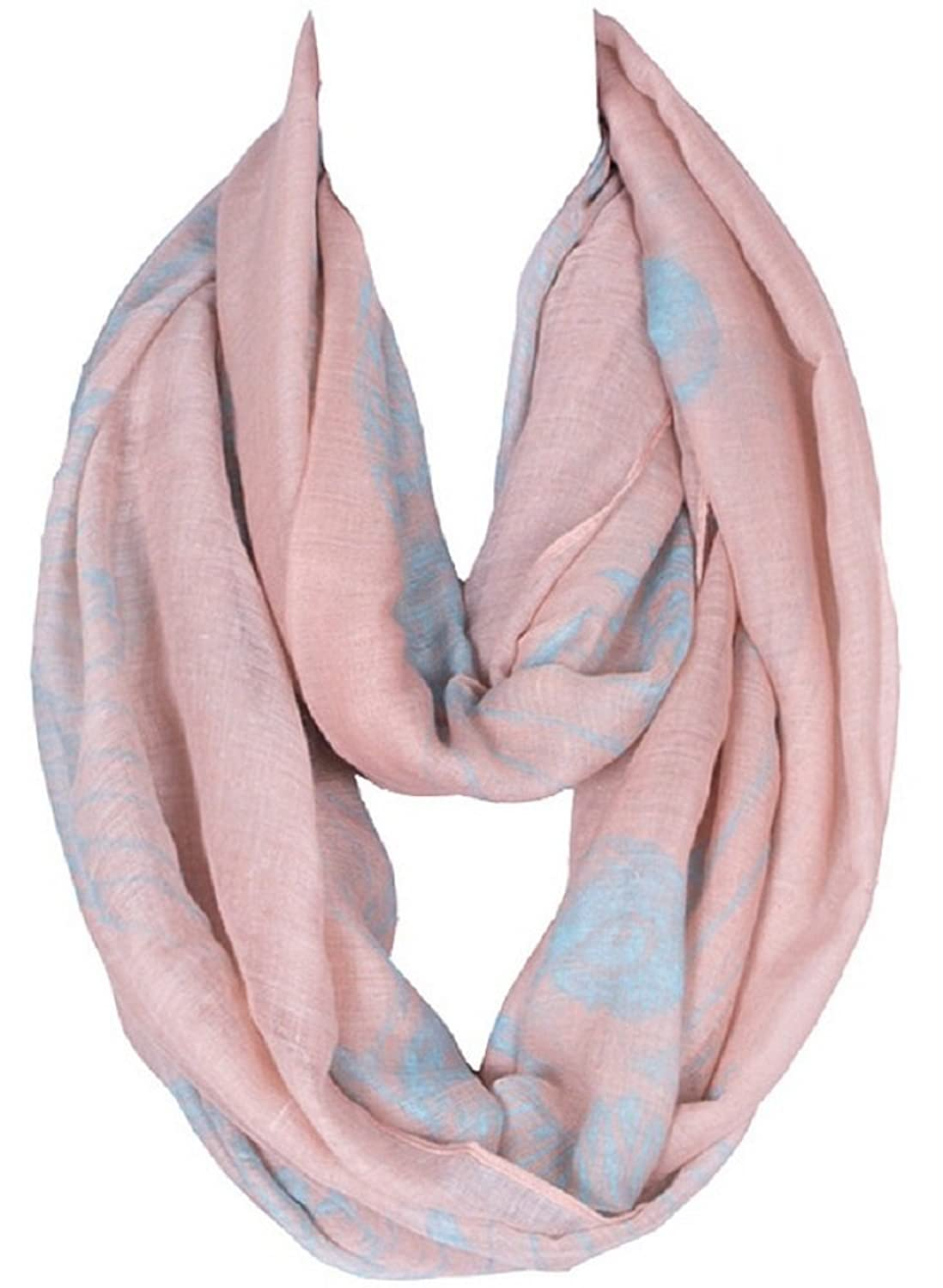 Bettyhome Women's Infinity Loop Scarf Chevron Sheer Large Birds Pattern Shawl 70.87 inch x 39.37 inch