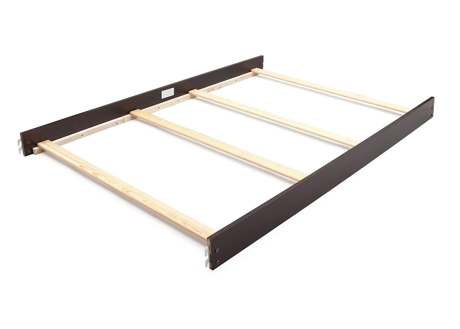 Full Size Conversion Kit Bed Rails for Dolce Babi Roma Crib - Dark Roast 199930-12