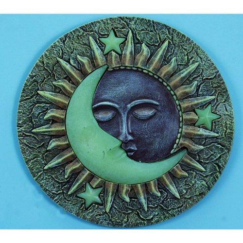 "UPC 759181118003, Sun & Moon Glow in the Dark Stepping Stone, 10"""