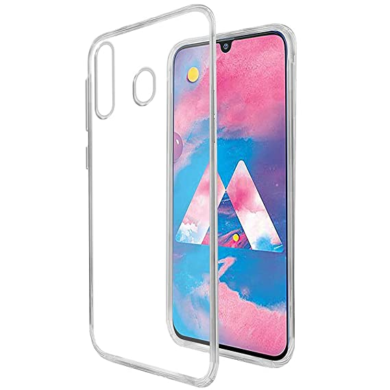 new products 88e58 8c03d Amazon Brand - Solimo Mobile Back Case Cover for Samsung Galaxy M30  (Transparent)