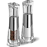 Cole & Mason 31251 C&M Bobbi Salt and Pepper Mill Gift Set, Clear/Silver