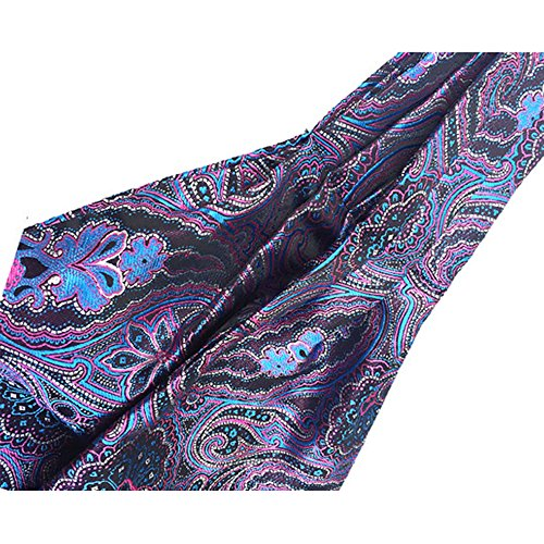 Scarf Necktie Ascot Jacquard Jacquard YCHENG Patterned Paisley Men's 09 Lja Purple Floral qB0BxZO