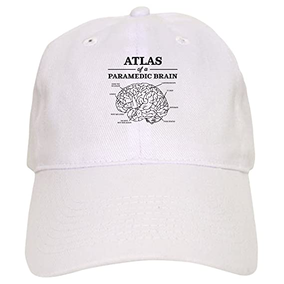 Amazon.com  CafePress - Atlas of A Paramedic Brain - Baseball Cap with Adjustable  Closure 20761fe3c0a8