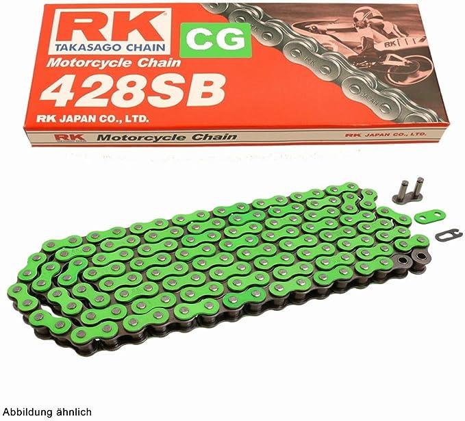 Kettensatz Geeignet Für Hyosung Gv 125 Aquila 00 17 Kette Rk Cg 428 Sb 138 Offen GrÜn 13 48 Auto