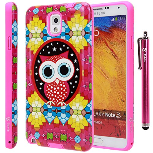 Note 3 Case, Galaxy Note 3 Case, Style4U Galaxy Note 3 Cute Owl Design Slim Fit Hybrid Armor