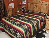 Mission Del Rey's Western Bedding Saltillo Collection (King 114x96, Black)