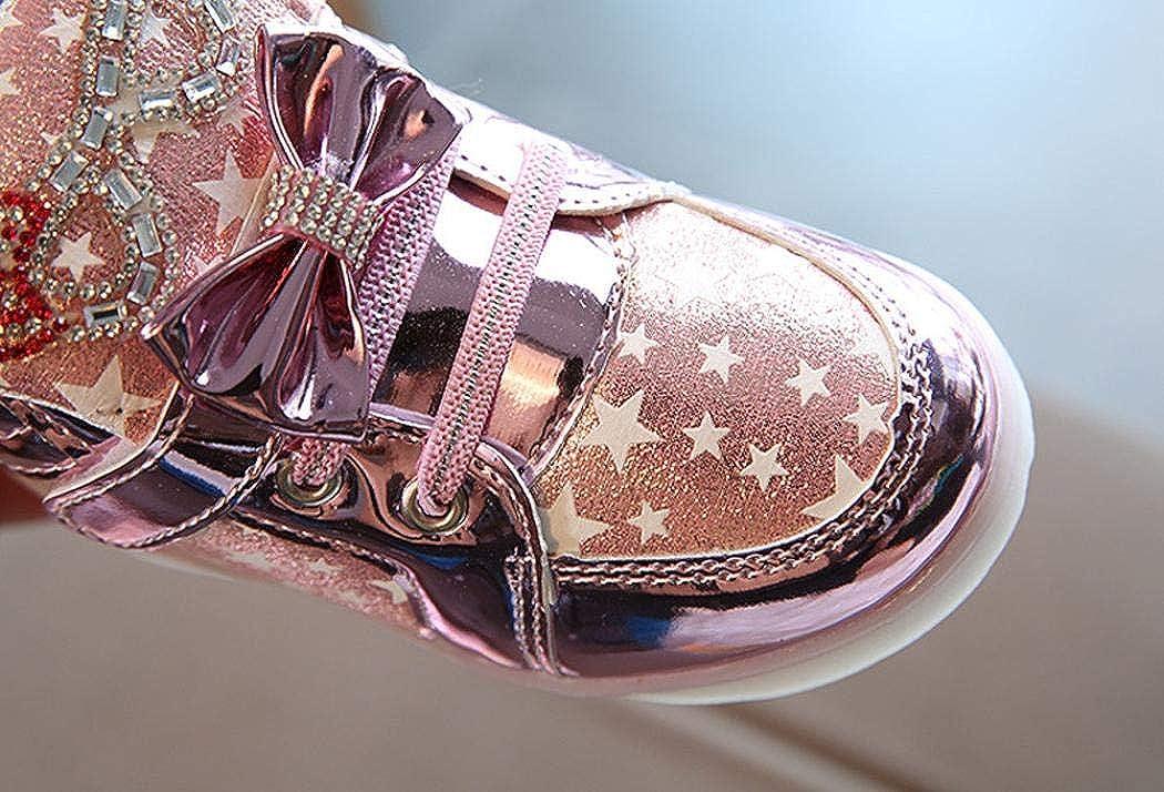 1-6 años Niña Bebe Zapatos con Led luz Talla 21-30