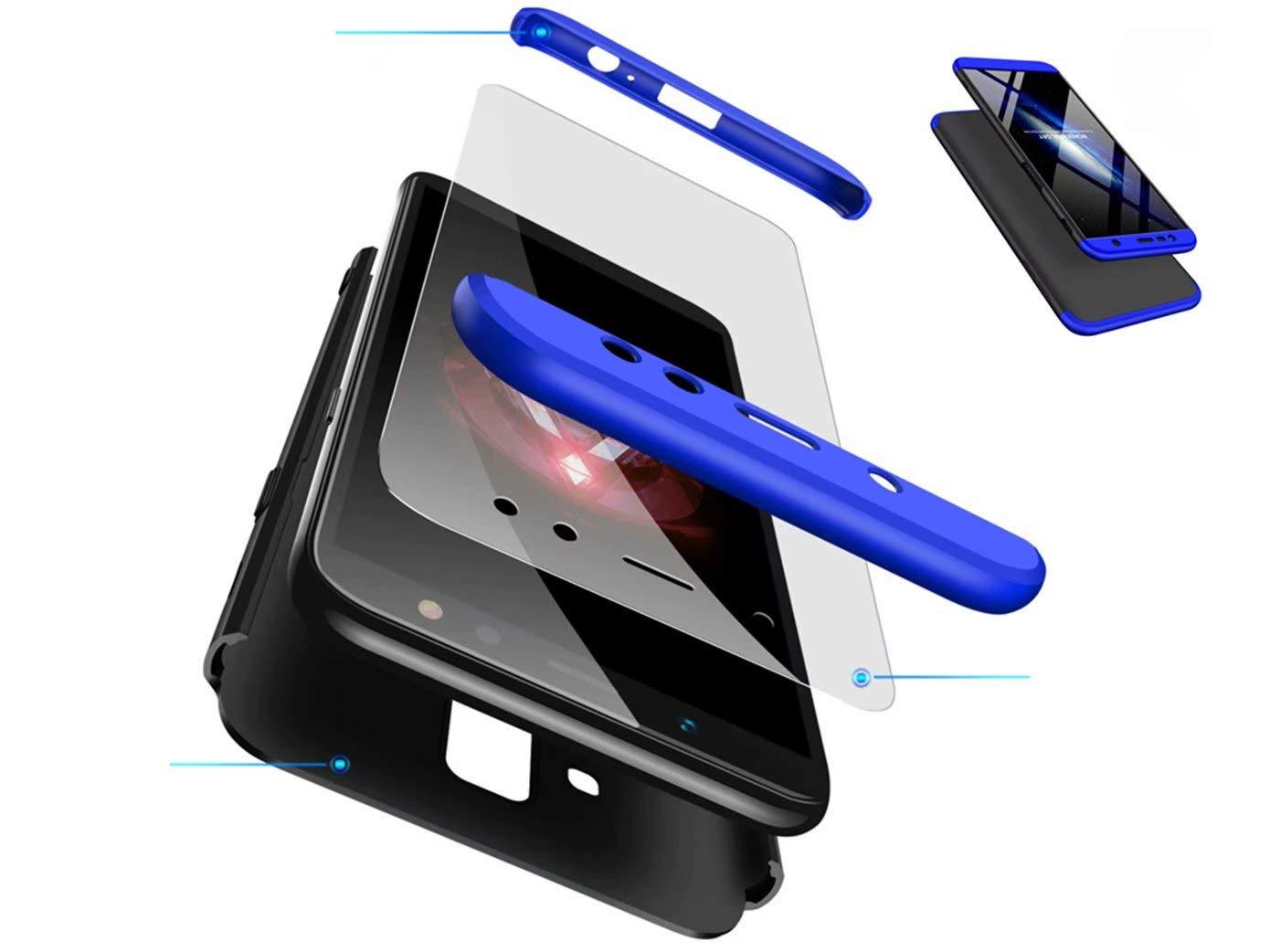 DYGG Huawei P smart 2019 /名誉10 Liteケース用ケース、カバープラスチック製の転倒防止用保護[強化ガラス製スクリーンプロテクター]、ブラックブルー   B07NJQNXPM