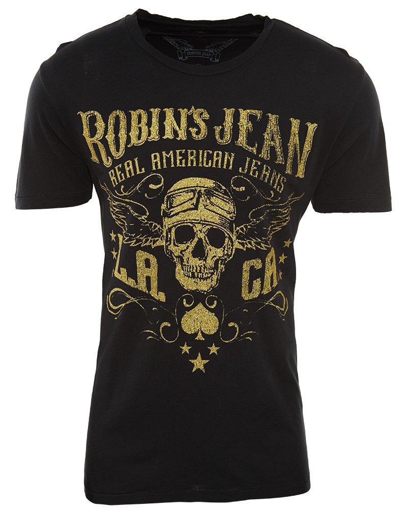 Robin's Jean Tshirt Mens Style : AAA487-BLACK Size : XXL