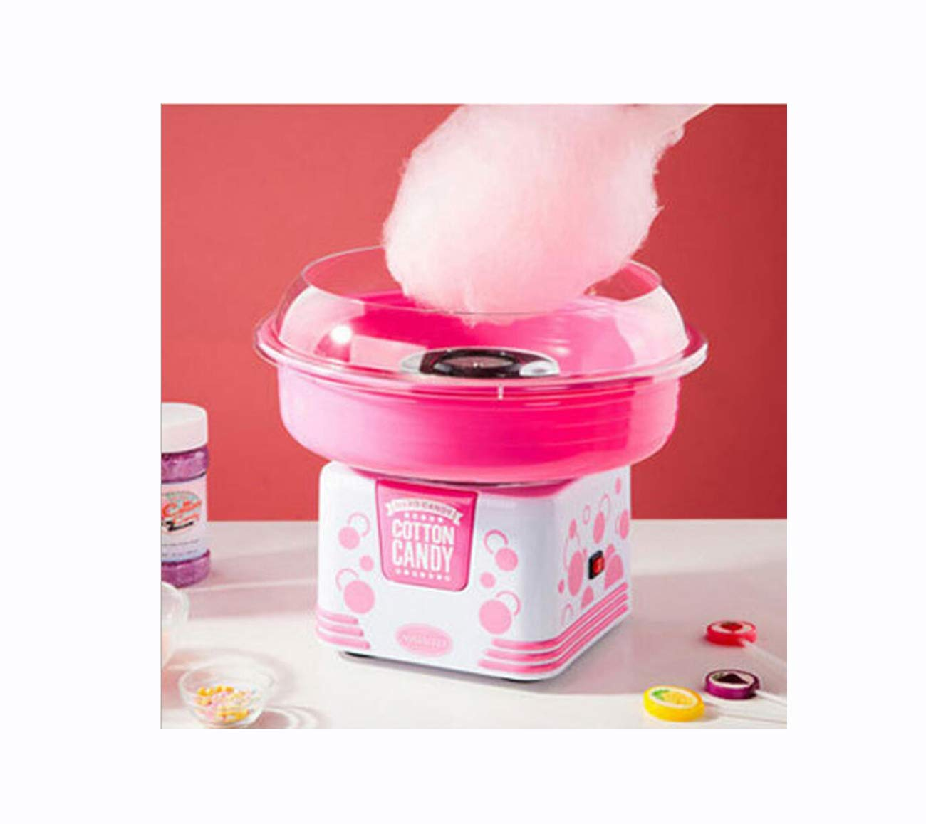 Isa Handy Candy Smart Cotton Candy Maker, Pink/Red,Pink