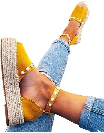 82ea7a092ec Women Summer Sandals Fashion Fish Mouth Thick Bottom Espadrilles Wedges  Casual Buckle Strap Roman Platform Shoes