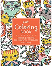 Posh Adult Coloring Book: Cats & Kittens for Comfort & Creativity: Volume 15