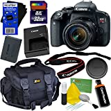 Canon EOS Rebel T7i Digital SLR Camera with EF-S 18-55 IS STM Lens, International Version + 32GB SD Memory Card + Large Case + Accessory Kit w/ HeroFiber Ultra Gentle Cleaning Cloth