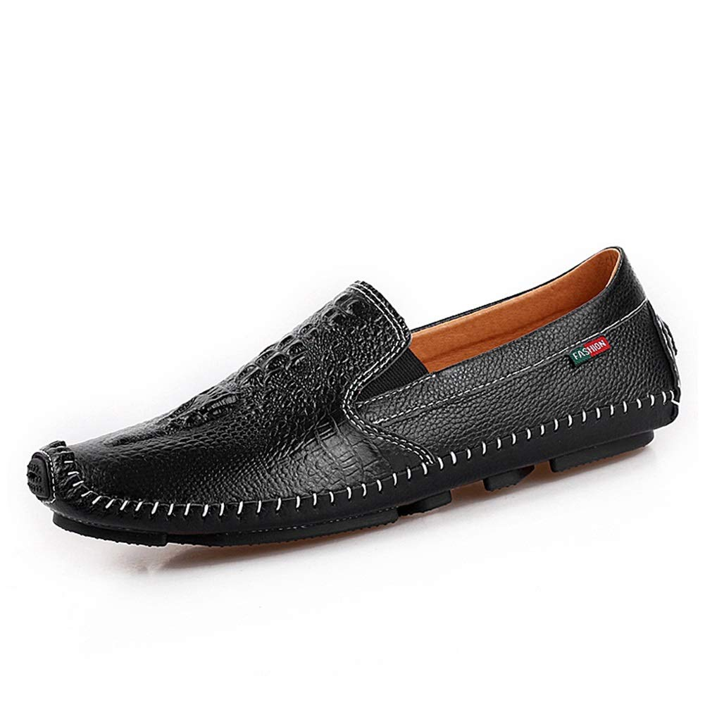 B 43 Mens Driving shoes,Loafers & SlipOns ,Spring Fall Casual Leather Flats shoes,Fashion Business Casual shoes,Lazy shoes (color   C, Size   41)