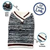Pet Craft Supply 8974 V-nk Knit Sweater, Small, Burgundy