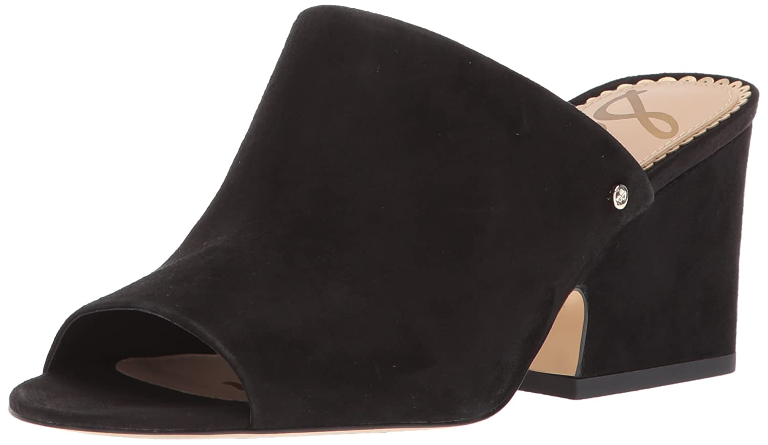 Sam Edelman Women's Rheta Wedge Sandal B072KSHWSD 9 B(M) US|Black Suede